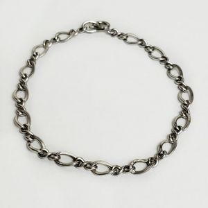 Vintage A&Z Infinity Chain Sterling Bracelet 925